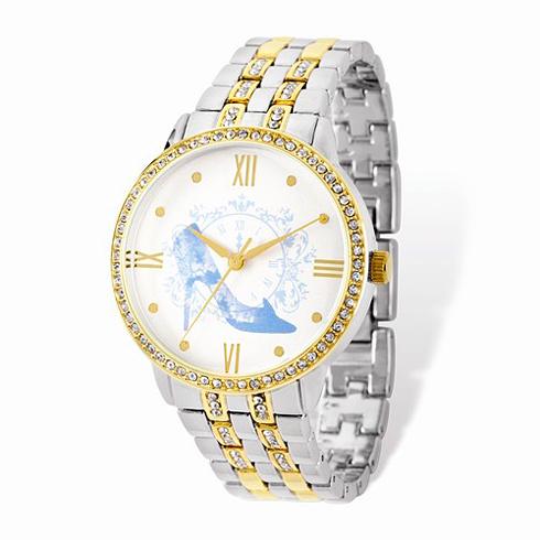 Cinderella Slipper Two-tone Crystal Bracelet White Dial Watch