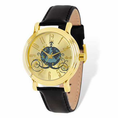 Cinderella Coach Gold-tone Leather Watch