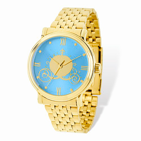 Cinderella Coach Gold-tone Bracelet Blue Dial Watch