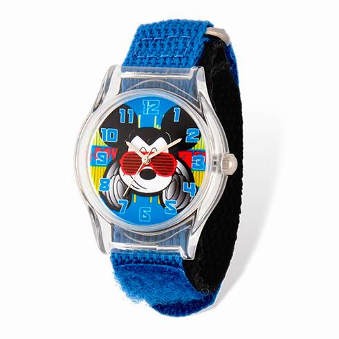 Mickey Mouse Sunglasses Blue Nylon Strap Watch