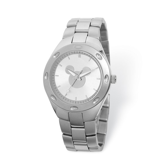 Mickey Mouse Men's Silhouette Stainless Steel Silver Dial Watch