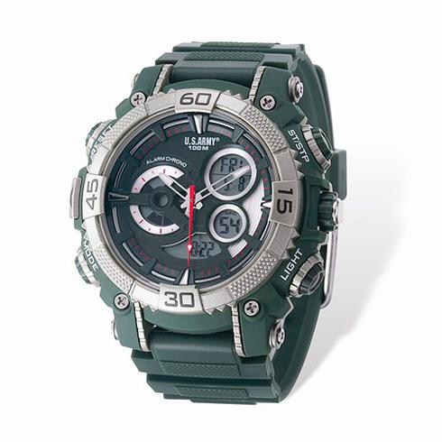 Wrist Armor US Army C40 Digital Chronograph Watch Green Dial