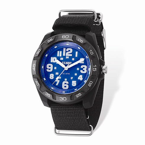 Wrist Armor US Navy C42 Quartz Blue Dial Watch with Nylon Strap