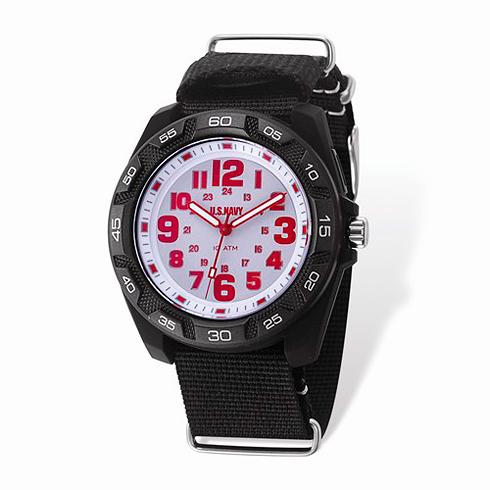Wrist Armor US Navy C42 Quartz White Dial Watch with Nylon Strap
