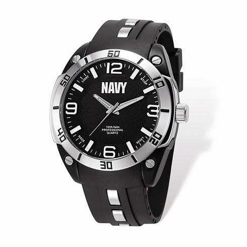 Wrist Armor US Navy C36 Pro Quartz Watch with Black Silicone Strap