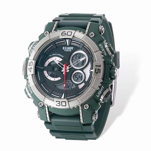 Wrist Armor US Navy C40 Digital Chronograph Watch Green Dial