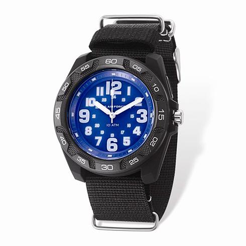Wrist Armor US Air Force C42 Quartz Blue Dial Watch with Nylon Strap