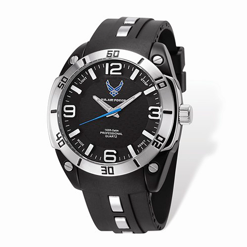 Wrist Armor US Air Force C36 Pro Quartz Watch Black Silicone Strap