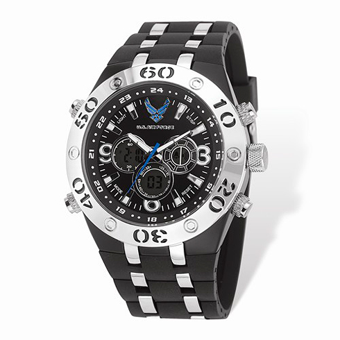 Wrist Armor US Air Force C23 Digital Chronograph Watch Black Dial