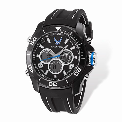 Wrist Armor US Air Force C29 Digital Chronograph Watch Black Dial