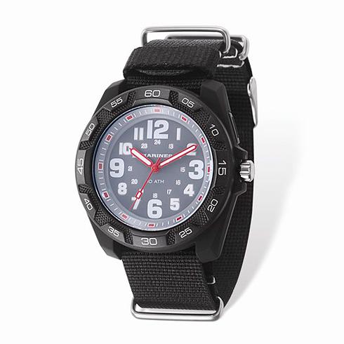 Wrist Armor US Marine Corps C42 Quartz Gray Dial Watch with Nylon Strap