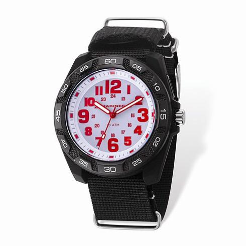 Wrist Armor US Marine Corps C42 Quartz White Dial Watch with Nylon Strap
