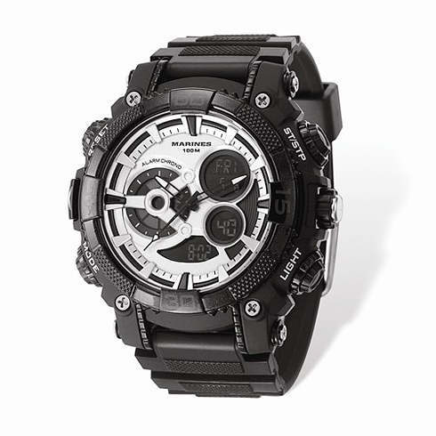 Wrist Armor US Marine Corps C40 Digital Chronograph Watch Black Dial
