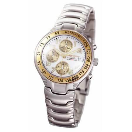 Charles Hubert Stainless & 18k Gold Accent Chronograph Watch