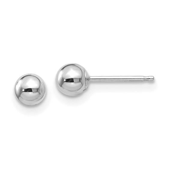14kt White Gold 4mm Ball Post Earrings