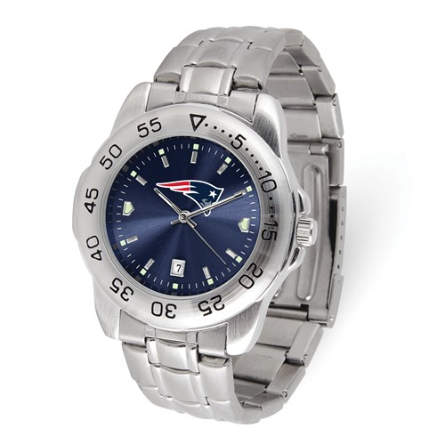 Game Time New England Patriots Sport Steel Watch