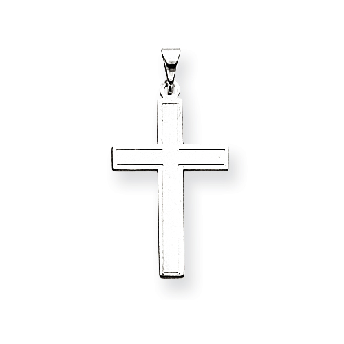 14kt White Gold 7/8in Latin Cross Pendant