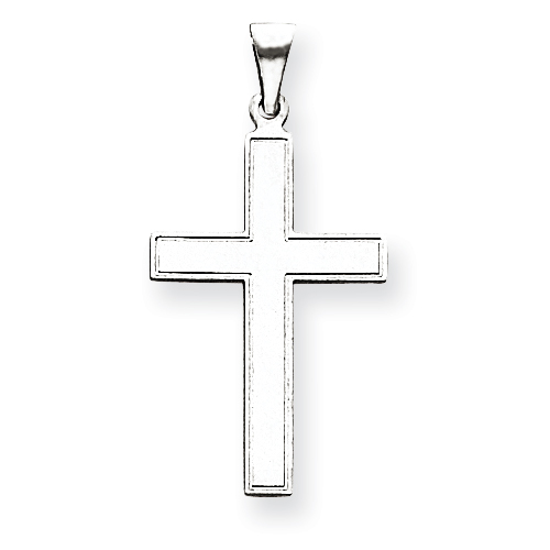 14kt White Gold 1 1/16in Cross Pendant