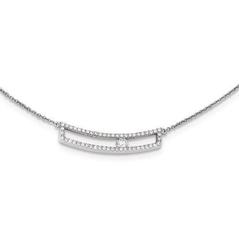 14kt White Gold 1/3 ct Sliding Diamond Necklace