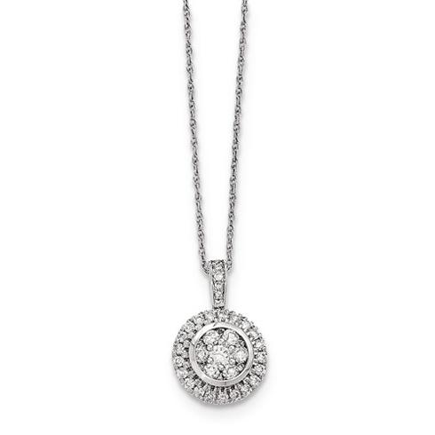 14kt White Gold 1/2 ct Diamond Circle Necklace