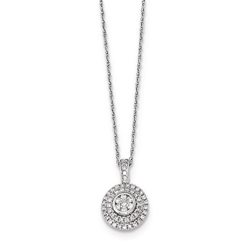 14kt White Gold 1/4 ct Diamond Circle Necklace