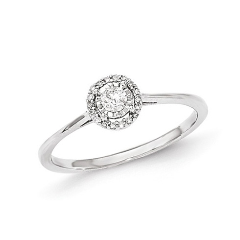 14kt White Gold 1/6 ct Round Diamond Promise Ring