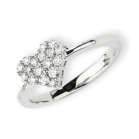 14kt White Gold 1/3 ct Diamond Heart Ring