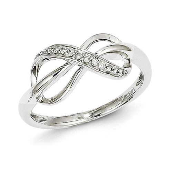 14kt White Gold 1/15 ct Diamond Infinity Ring