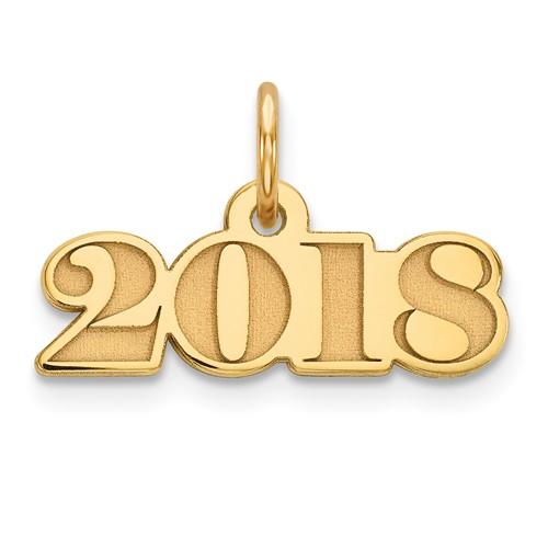 Classic Graduation 2018 Charm 14k Yellow Gold