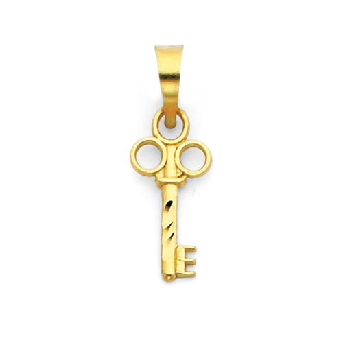 14kt Yellow Gold 1/2in Key Charm