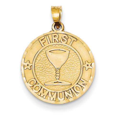 14kt 5/8in First Communion Charm