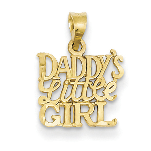 14kt Yellow Gold Daddy's Little Girl Charm