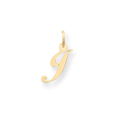 14kt Yellow Gold 5/8in Fancy Script Initial J Charm
