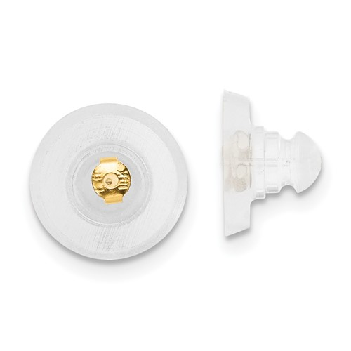 14kt Yellow Gold Silicone Earring Back Disk 1 Pair