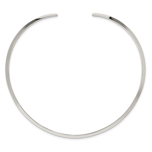 Sterling Silver 15in Neck Collar 4mm