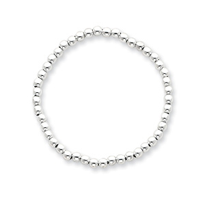 Sterling Silver 18in Beaded Necklace