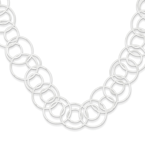 18in Sterling Silver Fancy Link Necklace
