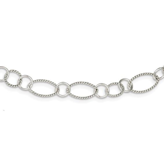 42in Sterling Silver Fancy Link Necklace
