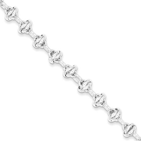 7.5in Sterling Silver Fancy Link Bracelet