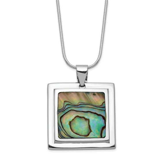 Sterling Silver Abalone 18in Necklace