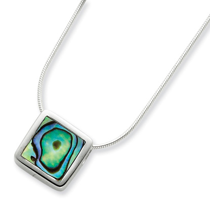 Sterling Silver Abalone 16in Necklace