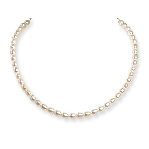 18in Sterling Silver Freshwater Cultured Pearl Necklace