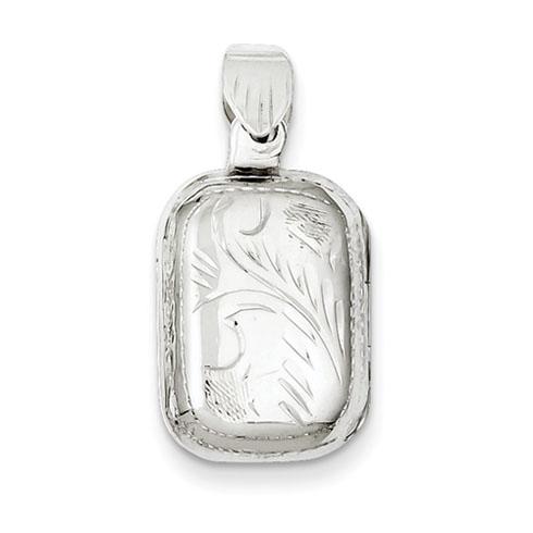 Sterling Silver 3/4in Oblong Locket