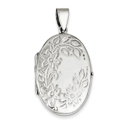 Sterling Silver Floral Locket
