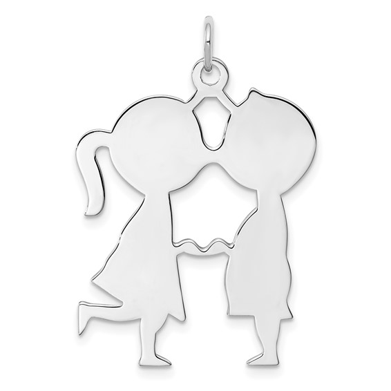 Sterling Silver 1 1/16in Engravable Boy Girl Disc Charm