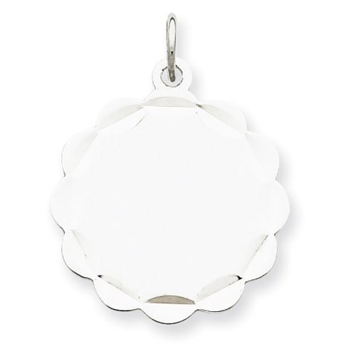 Sterling Silver 3/4in Engravable Disc Charm