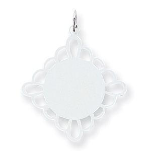 Sterling Silver Engravable Disc Charm