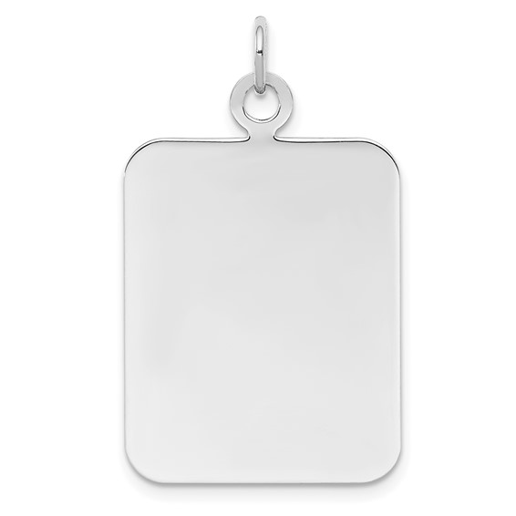Sterling Silver 1in Engravable Rectangle Disc Charm