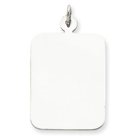Sterling Silver 1in Engravable Rectangle Charm