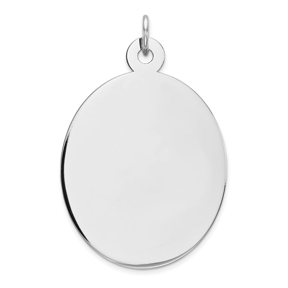 Sterling Silver 1in Engravable Oval Charm